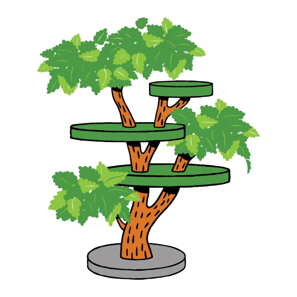 cartoon climbing tree for cat